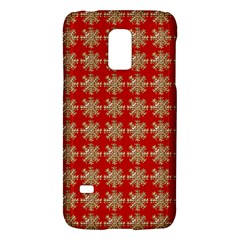 Snowflakes Square Red Background Galaxy S5 Mini