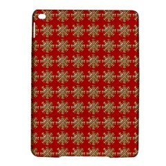 Snowflakes Square Red Background Ipad Air 2 Hardshell Cases