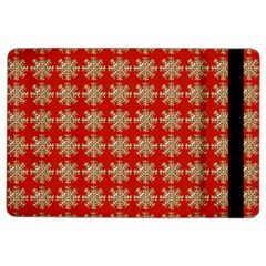 Snowflakes Square Red Background Ipad Air 2 Flip