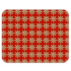 Snowflakes Square Red Background Double Sided Flano Blanket (Medium)