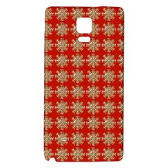 Snowflakes Square Red Background Galaxy Note 4 Back Case
