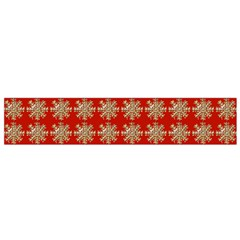 Snowflakes Square Red Background Flano Scarf (small)