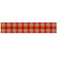 Snowflakes Square Red Background Flano Scarf (large)