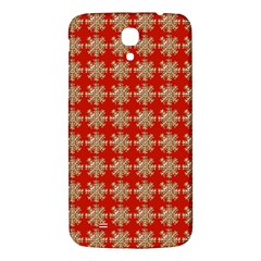 Snowflakes Square Red Background Samsung Galaxy Mega I9200 Hardshell Back Case