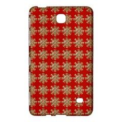 Snowflakes Square Red Background Samsung Galaxy Tab 4 (8 ) Hardshell Case
