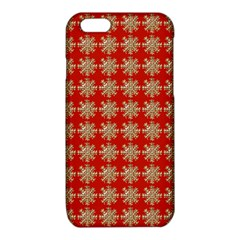 Snowflakes Square Red Background iPhone 6/6S TPU Case