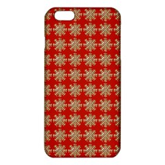 Snowflakes Square Red Background iPhone 6 Plus/6S Plus TPU Case