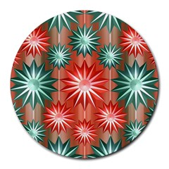 Star Pattern  Round Mousepads