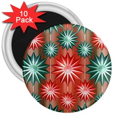 Star Pattern  3  Magnets (10 pack)