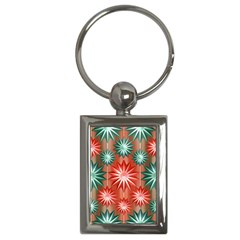 Star Pattern  Key Chains (rectangle)