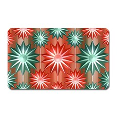 Star Pattern  Magnet (rectangular)