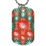 Star Pattern  Dog Tag (One Side) Front