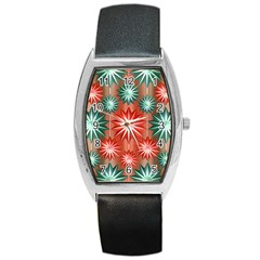 Star Pattern  Barrel Style Metal Watch
