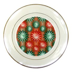 Star Pattern  Porcelain Plates