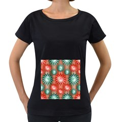 Star Pattern  Women s Loose-Fit T-Shirt (Black)