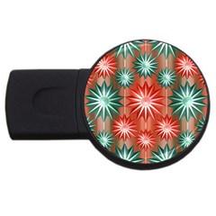 Star Pattern  USB Flash Drive Round (4 GB)