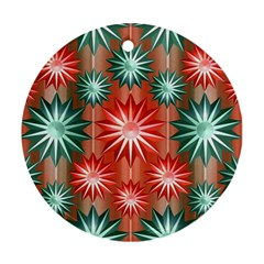 Star Pattern  Round Ornament (Two Sides)