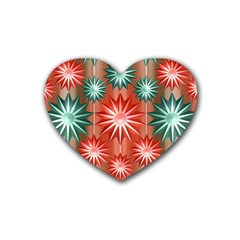 Star Pattern  Heart Coaster (4 pack)