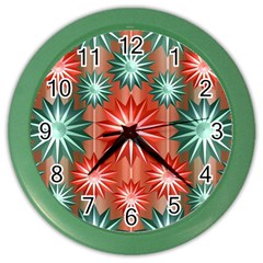 Star Pattern  Color Wall Clocks