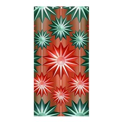 Star Pattern  Shower Curtain 36  x 72  (Stall)