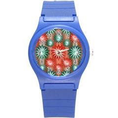 Star Pattern  Round Plastic Sport Watch (s)