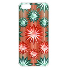 Star Pattern  Apple Iphone 5 Seamless Case (white)