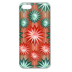 Star Pattern  Apple Seamless Iphone 5 Case (clear)