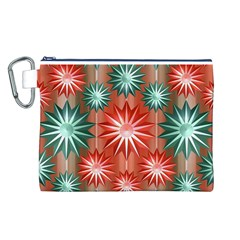 Star Pattern  Canvas Cosmetic Bag (L)