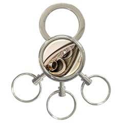 Spotlight Light Auto 3 Ring Key Chains