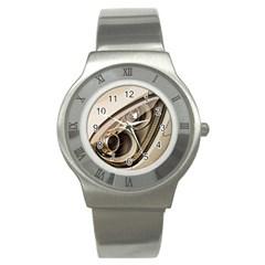 Spotlight Light Auto Stainless Steel Watch