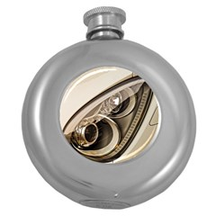 Spotlight Light Auto Round Hip Flask (5 Oz)