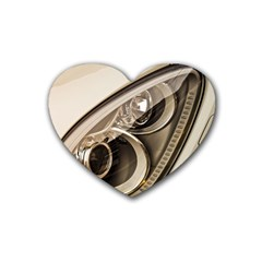 Spotlight Light Auto Rubber Coaster (heart)