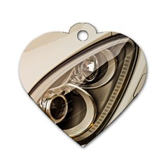 Spotlight Light Auto Dog Tag Heart (two Sides)
