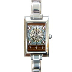Stained Glass Window Library Of Congress Rectangle Italian Charm Watch