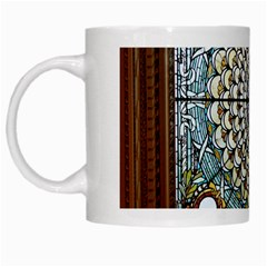 Stained Glass Window Library Of Congress White Mugs