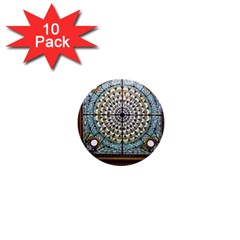 Stained Glass Window Library Of Congress 1  Mini Buttons (10 pack)