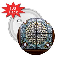 Stained Glass Window Library Of Congress 2 25  Buttons (100 Pack)