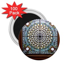 Stained Glass Window Library Of Congress 2 25  Magnets (100 Pack)