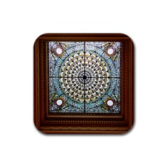 Stained Glass Window Library Of Congress Rubber Coaster (Square)