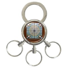 Stained Glass Window Library Of Congress 3-Ring Key Chains