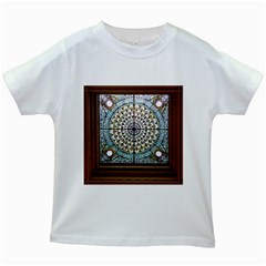 Stained Glass Window Library Of Congress Kids White T-Shirts