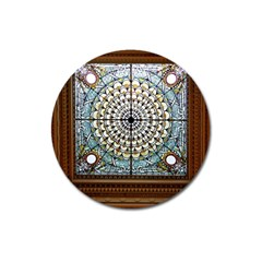 Stained Glass Window Library Of Congress Magnet 3  (Round)