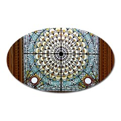 Stained Glass Window Library Of Congress Oval Magnet