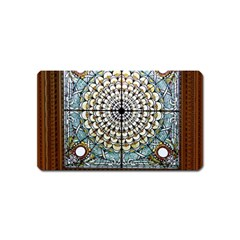 Stained Glass Window Library Of Congress Magnet (Name Card)