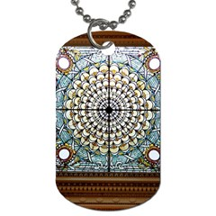 Stained Glass Window Library Of Congress Dog Tag (one Side)