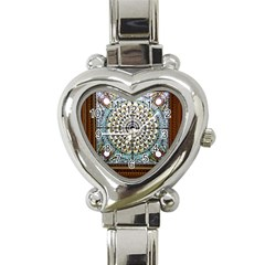 Stained Glass Window Library Of Congress Heart Italian Charm Watch