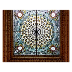 Stained Glass Window Library Of Congress Rectangular Jigsaw Puzzl