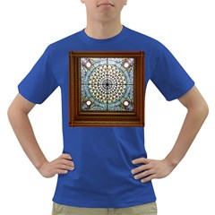 Stained Glass Window Library Of Congress Dark T-Shirt