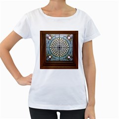 Stained Glass Window Library Of Congress Women s Loose Fit T Shirt (white)
