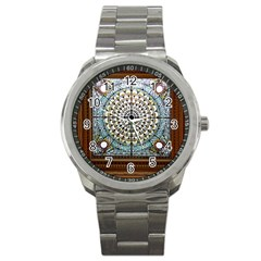 Stained Glass Window Library Of Congress Sport Metal Watch